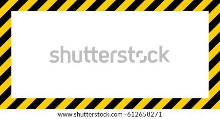 Warning Striped Rectangular Background Yellow Black Stock ...