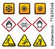 Warning symbols and Hazard Signs-Third set - stock vector