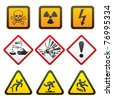 Warning symbols - Hazard Signs-First set - stock photo