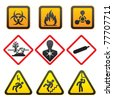 Warning symbols - Hazard Signs-Second - stock photo