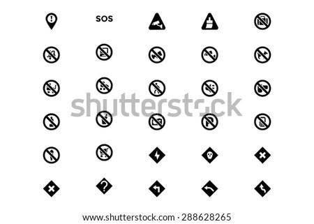 Warning Vector Icons 3 - stock vector