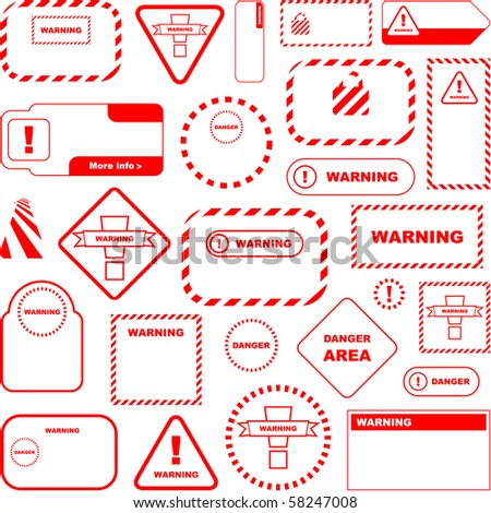Warning vector sign. Vector great collection. - stock vector