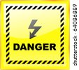 Warning vector sign. Vector template. - stock photo