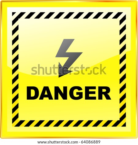 Warning vector sign. Vector template. - stock vector