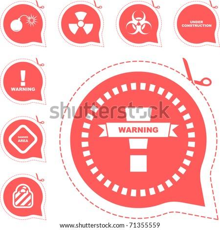 Warning vector signs. Vector template. - stock vector