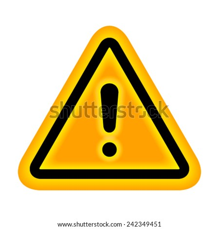 Warning with backlit. - stock vector