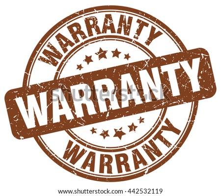 warranty brown grunge round vintage rubber stamp.warranty stamp.warranty round stamp.warranty grunge stamp.warranty.warranty vintage stamp. - stock vector