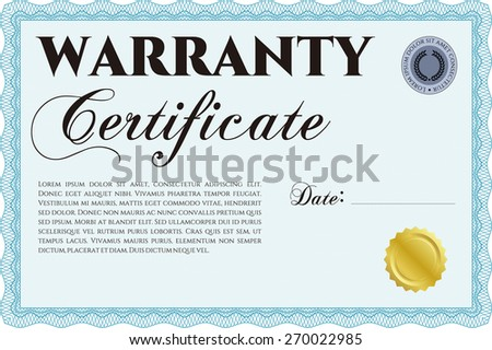 Warranty certificate template complex background perfect stock warranty certificate template complex sky blue border design yelopaper Choice Image
