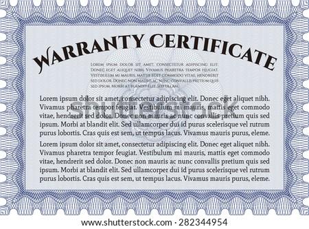 Warranty certificate template includes background sample stock warranty certificate template it includes background with sample text perfect style yadclub Gallery