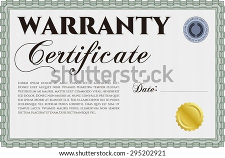 Warranty certificate stock images royalty free images vectors warranty certificate template with complex background perfect style complex border design yadclub Gallery