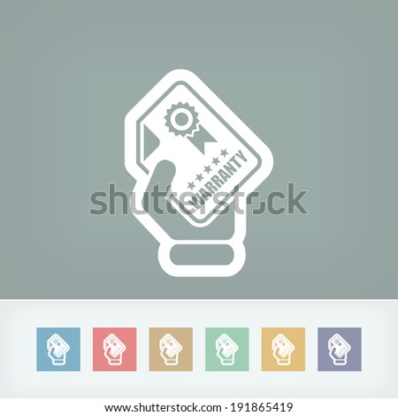 Warranty icon - stock vector