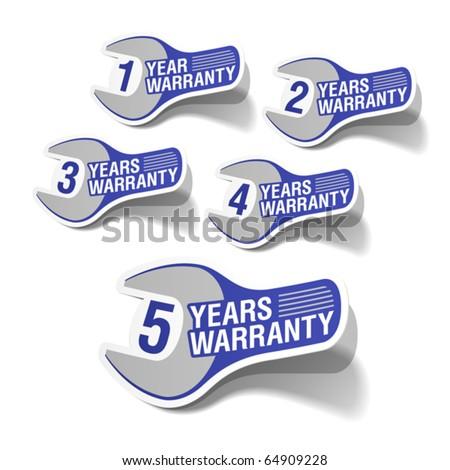Warranty labels. Vector. - stock vector