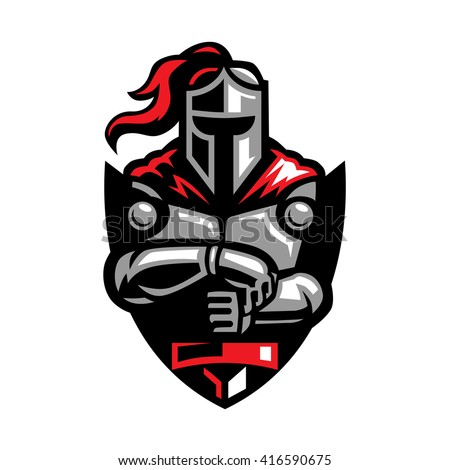 Warrior Knight - stock vector