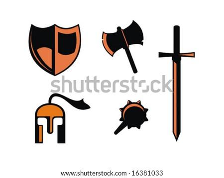 Warrior symbols. Vector illustration. - stock vector