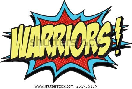 warriors - stock vector