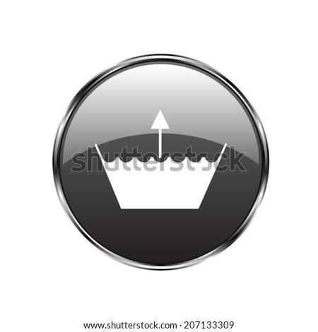 Wash icon. Machine washable  - vector button - stock vector