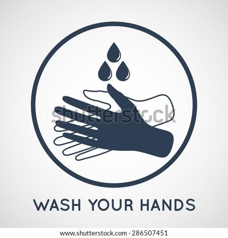 wash your hands symbol - stock vector