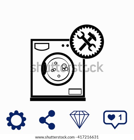 Washer repair icon.