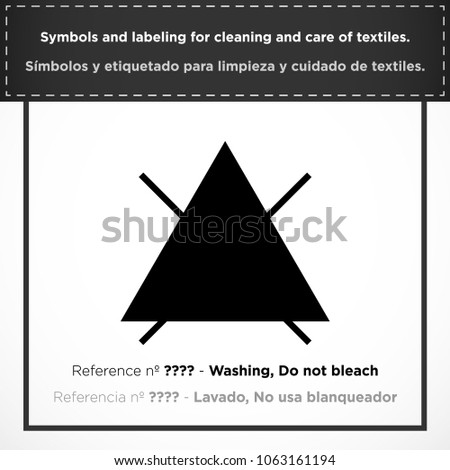 Washing Do Not Bleach Pictorial Symbols Stock Vector Royalty Free