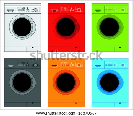 washing machine - stock vector
