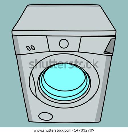 Washing machine isolated illustration - stock vector