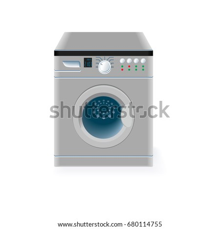 Washing machine vector on white background