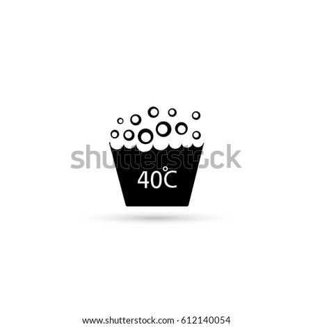 Washing Under 40 Degrees Celsius Textile Stock Vector 612140054