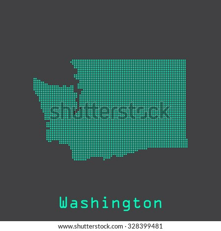 Washington abstract dots state map. Dotted style. Vector illustration EPS8 - stock vector