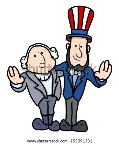 washington lincoln vector cartoons on presidents stock vector rh shutterstock com MLK Day Clip Art Free Free February Clip Art