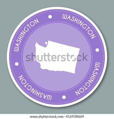 Maryland Label Flat Sticker Design Patriotic Stock Vector - Us state sticker map