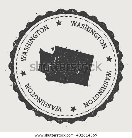Washington Vector Seal Vintage Usa State Stock Vector - Washington in us map