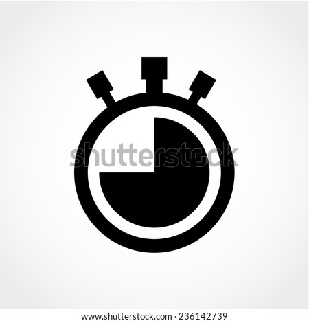 Watch Icon Isolated on White Background - stock vector