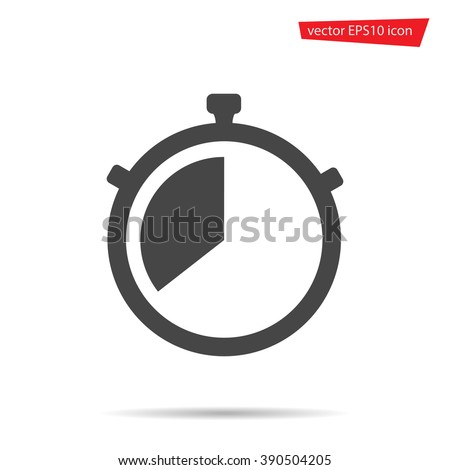 Watch Icon. Timer icon. Watch Icon vector. Timer icon flat. stock vector. Watch Icon image. Timer icon object. Stopwatch flat. Stopwatch pictogram. Stopwatch object. Stopwatch sign. Timer icon web - stock vector
