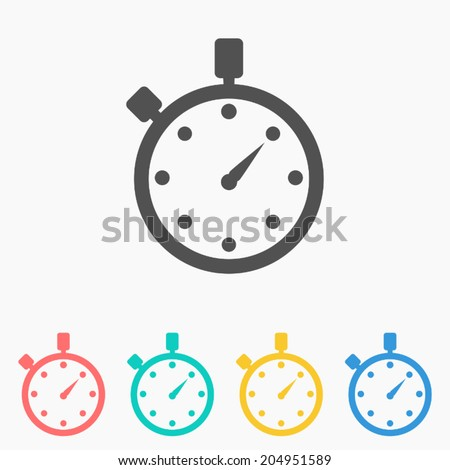 Watch icon ,Vector illustration  - stock vector