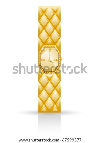 Watch isolated on white background. - stock vector