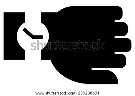 Watch on hand icon - stock vector
