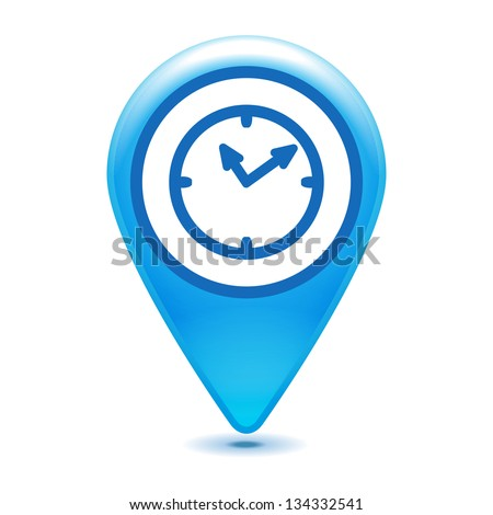 watch pointer icon on a white background - stock vector