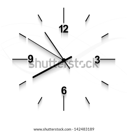 Watch stopwatch graphic element white background vector - stock vector