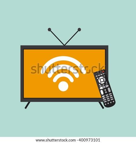 watch tv movie design  - stock vector