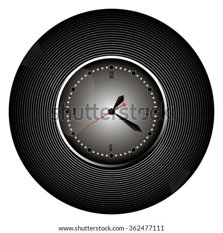 watch web black icon isolated on white background. vector illustration