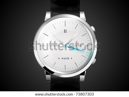watches an icon with the clock face. EPS10, transparency - stock vector