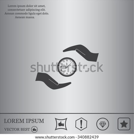 watches and hand web icon. vector design