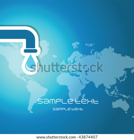 Water and earth Blue  abstract background texture - trendy business template with copy space Contemporary template - stock vector