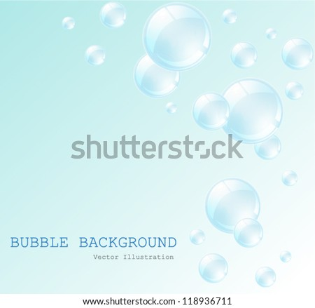 Water babble on blue background. vector illustration - stock vector
