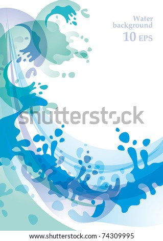 Water background  vector - stock vector