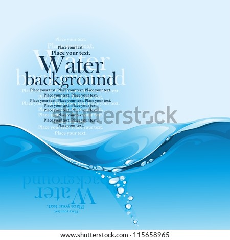 Water background. (vector illustration) - stock vector