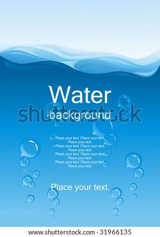 Water background. (vector illustration) - stock vector