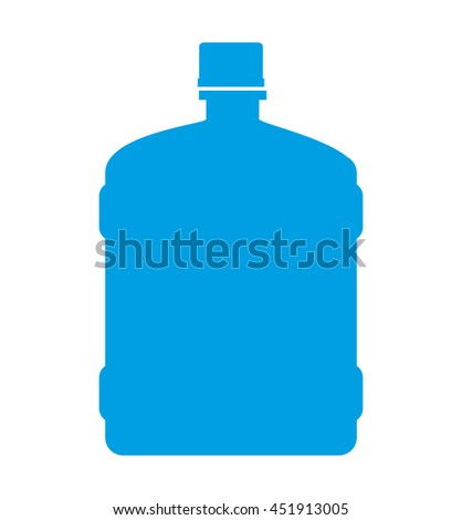 water big bottle isolated icon design, vector illustration  graphic  - stock vector