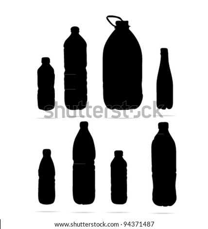water bottle sign isolated