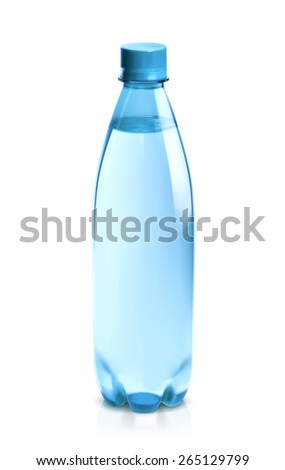 Water bottle, vector icon - stock vector